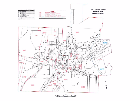 Village of Adams Zoning Map